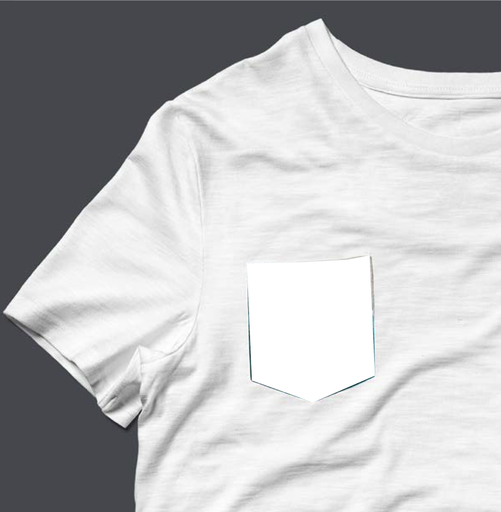 Tee Shirt poche personnalisable blanc